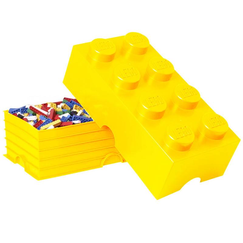 Lego – Lego opbevaringskasse 8 - gul, +10 stk. på lager på pixizoo