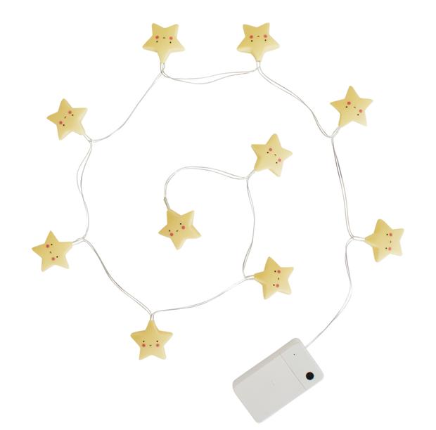 A little lovely company - lyskæde med stjerner, 4 stk. på lager fra A little lovely company fra pixizoo