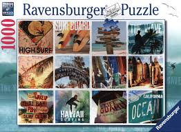 Ravensburger – Ravensburger -  surfer collage (1000 pcs) puslespil, 1 stk. på lager fra pixizoo