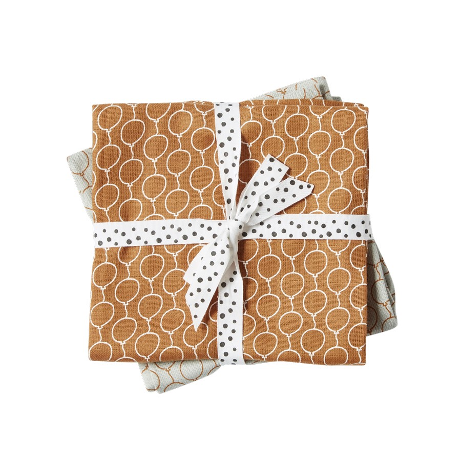 Done By Deer 2-Pack Balloon Swaddle - Guld