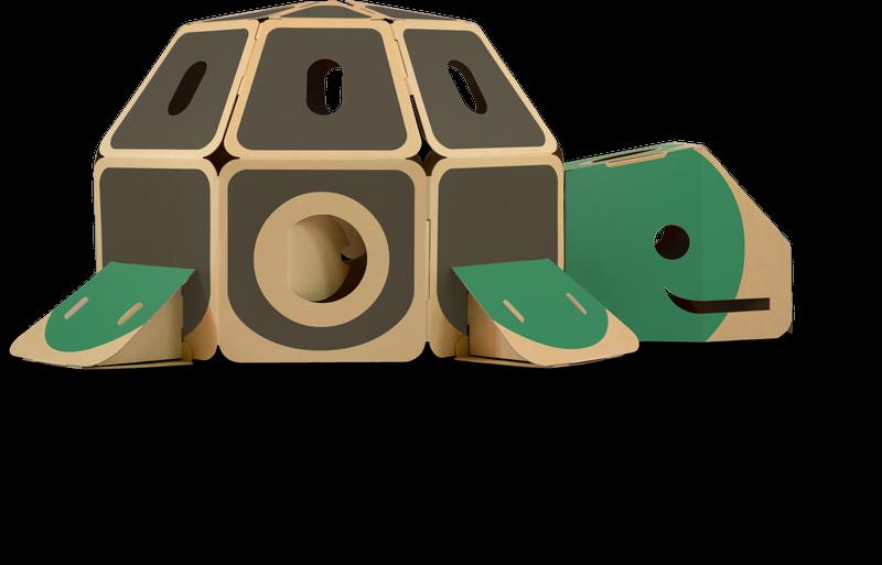 HULKI Papp-Lekhus Sköldpadda - Grön