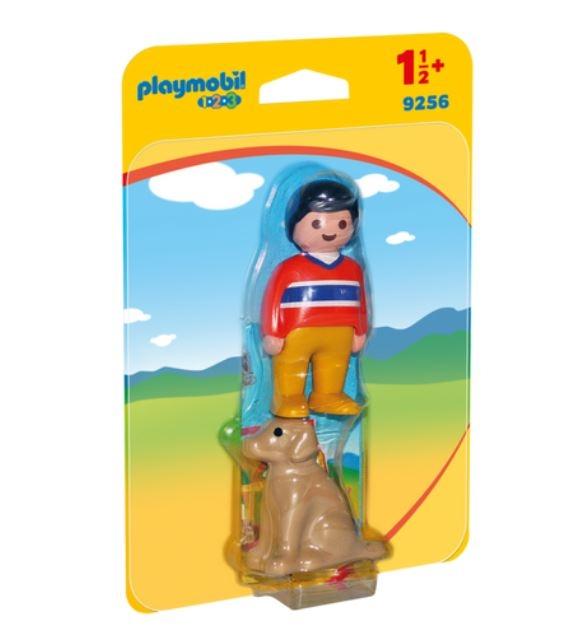 Playmobil 1.2.3 (9256) Pojke med Hund