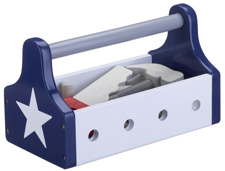 Kids concept lege-værktøjskasse - blå/hvid , 5 stk. på lager fra Kids concept fra pixizoo