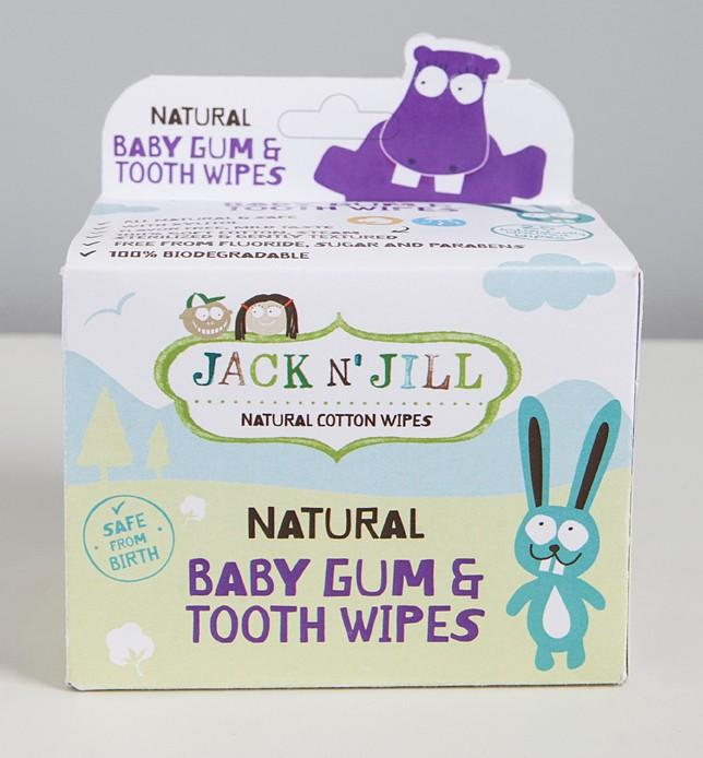 Jack n jill Jack n jill - wipes til gummer og tænder, 4 stk. på lager fra pixizoo