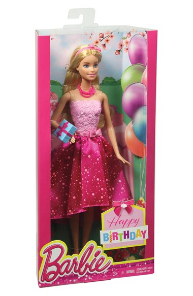 Barbie dukke i gaveæske - fødselsdagsbarbie, 5 stk. på lager fra Barbie på pixizoo
