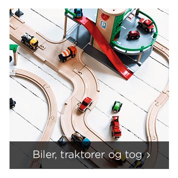 biler, traktorer og tog